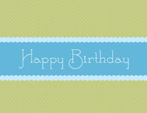 Blue Ribbon Wishes Happy Birthday Card