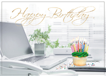 Desktop Cupcake Happy Birthday Cards